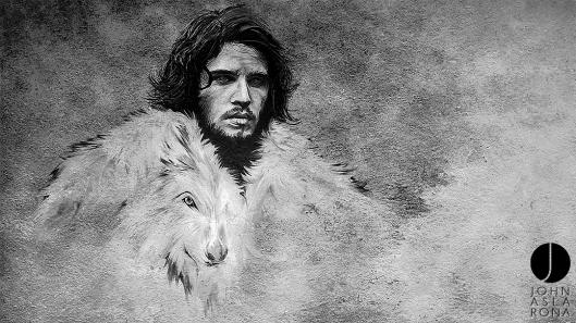 Jon Snow e Ghost