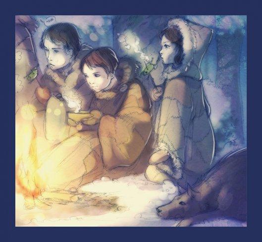 Bran e os irmãos reed (Jojen o vidente verde)